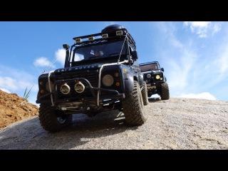 scale offroad adventures in desert: rc land rover defender 90 #wildbrit vs rc defender 90