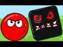 RED BALL 4 или КРАСНЫЙ ШАРИК против ЗЛОГО черного КВАДРАТА игровой мультик видео для...