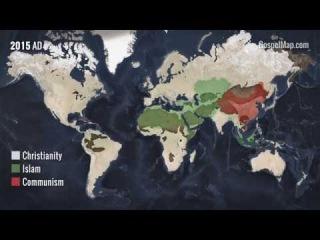 Как распространялось Евангелие за 2000 лет в 90 секундном ролике - imbf.org