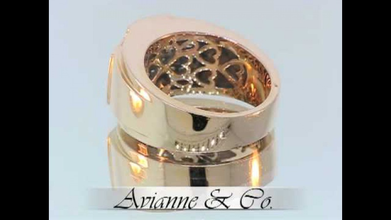 14K Rose Gold Mens Diamond Ring 2.35 Ctw