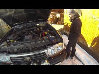Toyota Land Cruiser 80, 4,5 бензин, заводим в минус 24, Carku E-Power-21