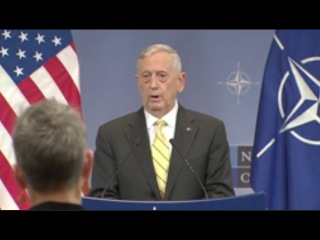 US Defense Sec. Mattis On Russian Interference- Full NATO QA