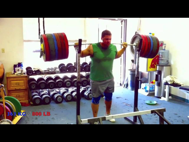 800 pound 363 kg Squat - ATG 100 RAW
