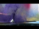 Взрыв аэрозольного баллончика с краской на скорости 2500 кадров в секунду