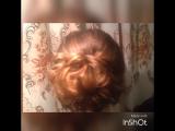 Вечерняя причёска от Эльнары!