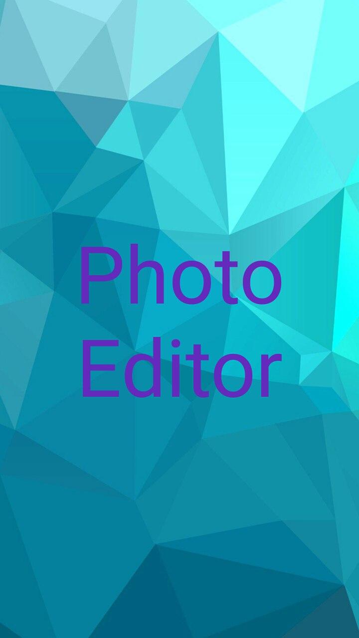 photo editor splash screen