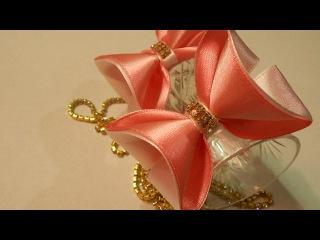 Легкий способ сделать бантик МК DIY Make a bow easily