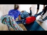 Боль и слезы - балерины посадили Дочу на шпагат