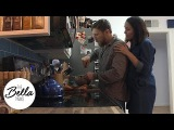 Brie and Daniel Bryan make pumpkin cake (Don't forget to grease the pan!)