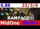 Dota 2 Meepo Rampage Fnatic MidOne 8000 MMR KDA - 23/3/6