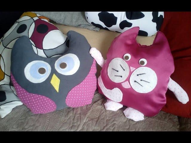 Подушка-игрушка (без шитья) легко и просто своими руками how to make this easy owl pillow.