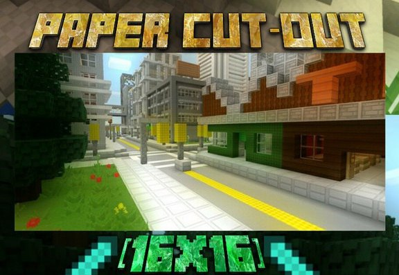 Превью для «Paper Cut-Out [16x16]   Minecraft Pocket Edition 0.15.x»