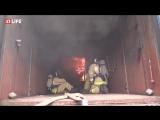 Спасение людей из горящего четырёхэтажного здания в Иваново