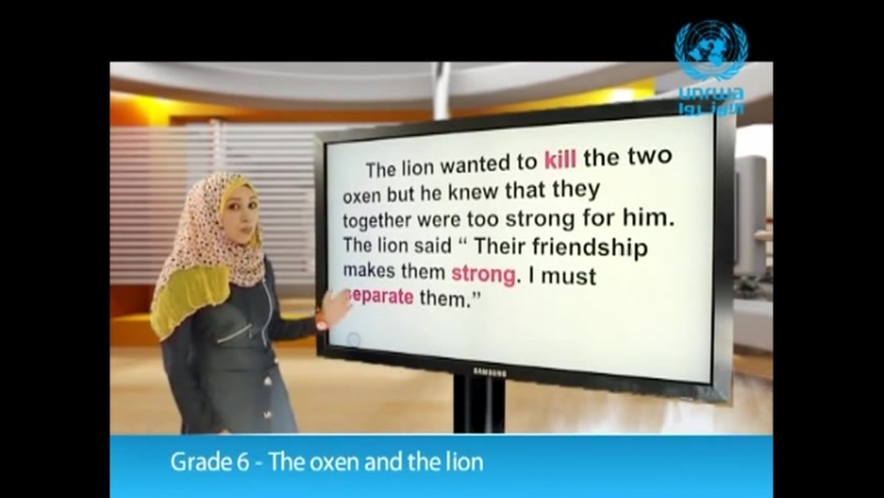 112.Grade 6 - The oxen and the lion