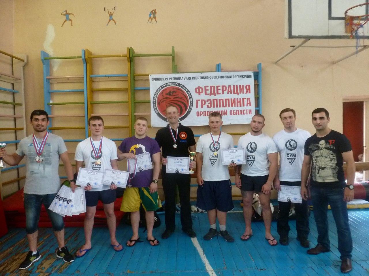 Орловские грэпплеры взяли 2 место на турнире в Курске