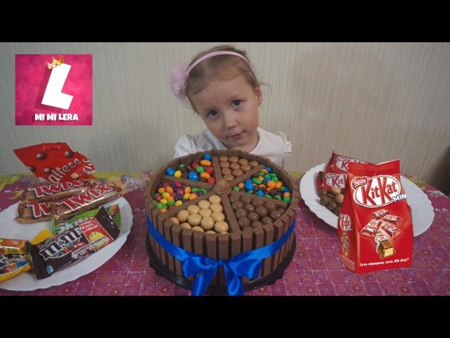 Торт из Kit Kat и Mm и конфет Skittles, Meller, Maltesers на День рождения Никиты