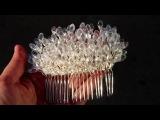 Diy How To Make A Wedding Hair Comb Мастер класс свадебный гребень для волос