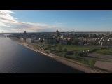 Riga Island Bridge in 4k or Ultra HD 2017 Year