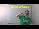 0526 - fingers crossed  скрестим пальцы - Daily Easy English Expression