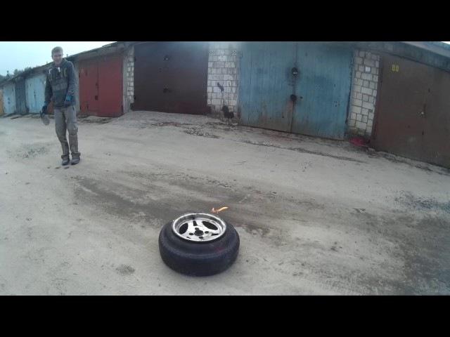 Как одеть шины на широкий диск