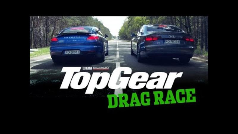Drag Race TopGear Polska: Porsche Panamera Turbo vs Audi S8 Plus