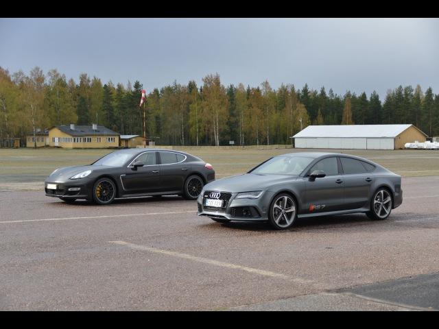 Audi RS7 560 hp vs Porsche Panamera Turbo S Powerkit 540 hp drag race