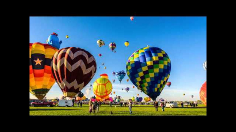 2015 Albuquerque International Balloon Fiesta Timelapse Long cut with music. 4k