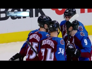Tyson Barrie spins and sets up Grigorenkos nice goal 11-29-16