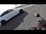Sportbike vs Tesla Model S