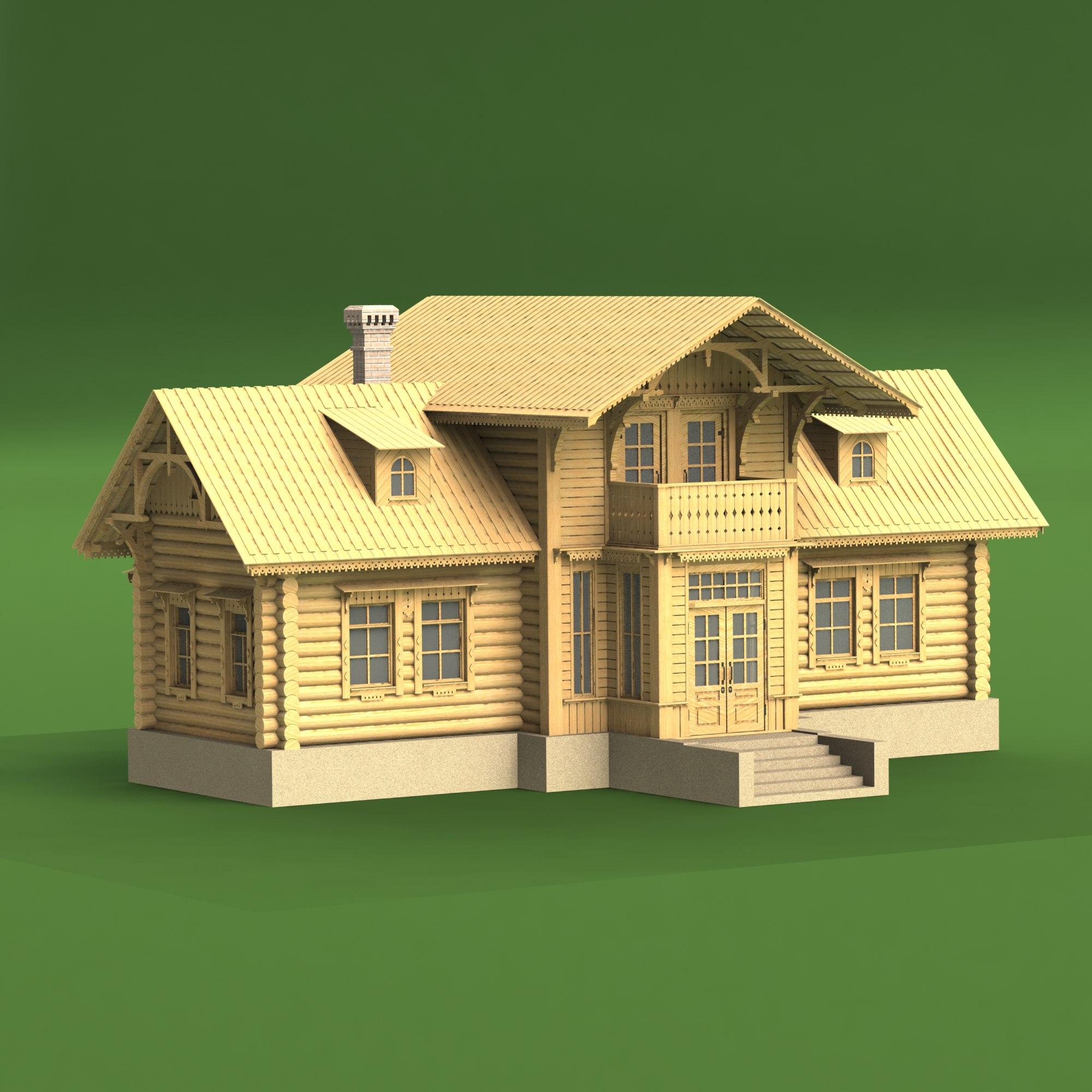 дипломы масштабные модели домов из дерева Тамбовцева