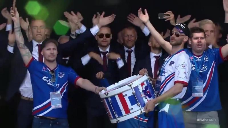Ісландыя сустракае сваіх футбалістаў