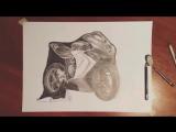 Фотореалистичный рисунок мотоцикла MV Agusta F3