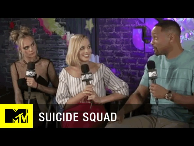 Suicide Squad Cast Tattooed Each Other?! | Full Interview w/ Josh Horowitz | MTV