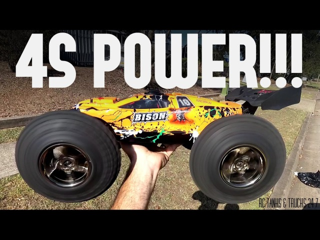 4S POWER!! VKAR BISON Wheelie Monster **With Bearing Failure!**