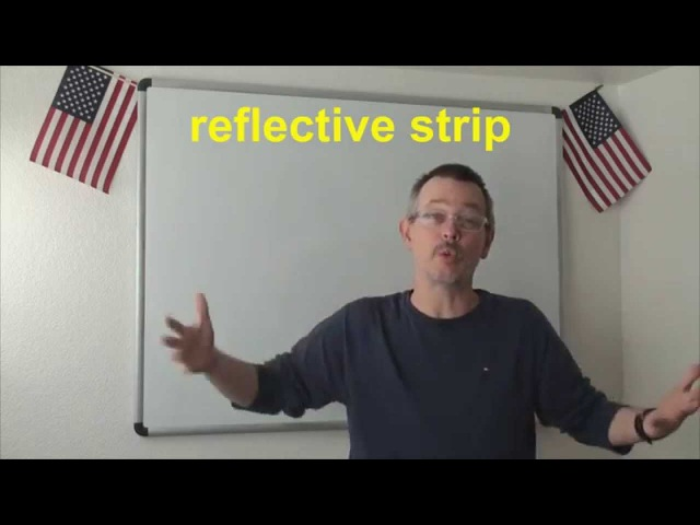 Learn English: Daily Easy English Expression 0642: reflective strip VS reflector PLUS MORE!!