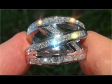 Certified Jewelry VS1G Natural Diamond 18k White Gold Engagement Cocktail Estate Ring - C913