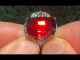 GIA Certified VVS Natural Spessartite Garnet Diamond 18k Yellow Gold Ring TOP GEM - C753