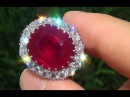 GIA Certified Vintage 21.02 Carat Unheated Burma Ruby Diamond Solid 18k White Gold Cocktail Ring