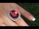 GIA Certified 28 33 ct FLAWLESS Pyrope Garnet Diamond 18k White Gold Vintage Ring A141477