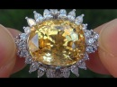 GIA Certified UNHEATED Natural Yellow Sapphire Diamond 18k Gold Engagement Ring C332