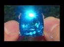 Estate Natural FLAWLESS London Blue Topaz Diamond 14k White Gold Ring - C110