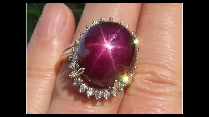 Certified Natural Red Star Ruby Diamond 14k Yellow Gold Cocktail Estate Ring - C522