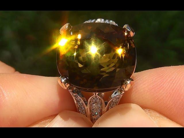 GIA Certified Estate FLAWLESS Bi-Color Tourmaline Diamond 14k Gold Vintage Ring - A121364