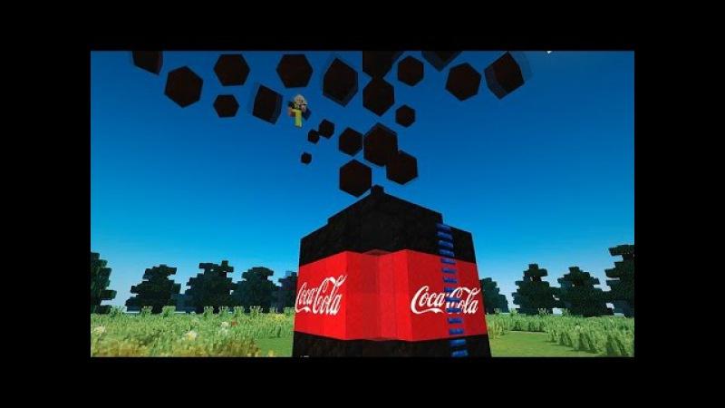 10 000 ЛИТРОВ КОКА-КОЛЫ МЕНТОС В МАЙНКРАФТЕ! БЕЗ МОДОВ! / 10 000 liters of Coca-Cola in MINECRAFT