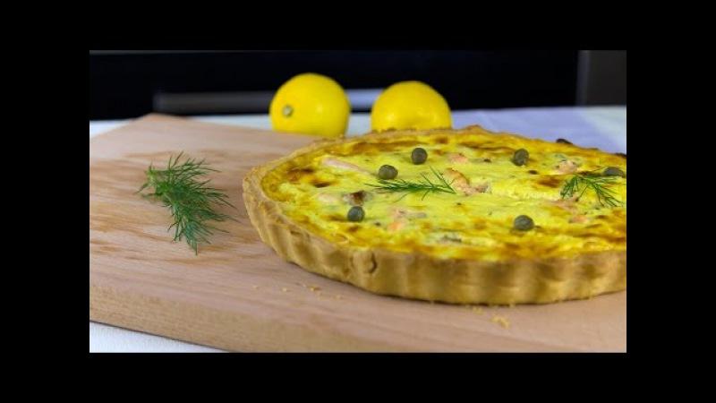 Tarta z łososiem - VideoKuchnia.pl