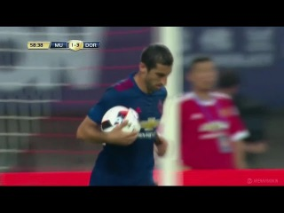 Henrik Mkhitaryan Goal - Manchester United vs Borussia Dortmund 1-4 International Champions Cup 2016