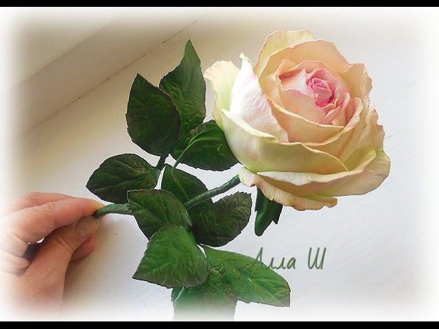 МК Роза на стебле из фоамирана / Foam Rose /.