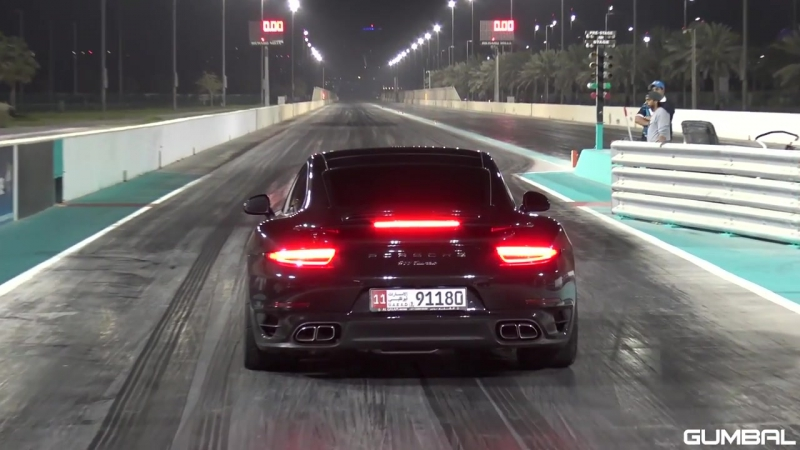 CoD | Porsche 991 Turbo PP Performance 1_4 Mile Abu Dhabi Yas Marina Drag Strip