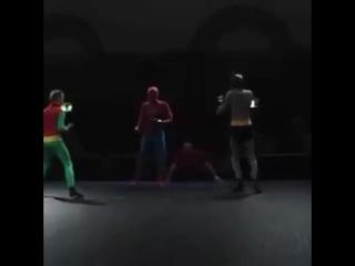 Бэтмен и Робин vs. Человек паук