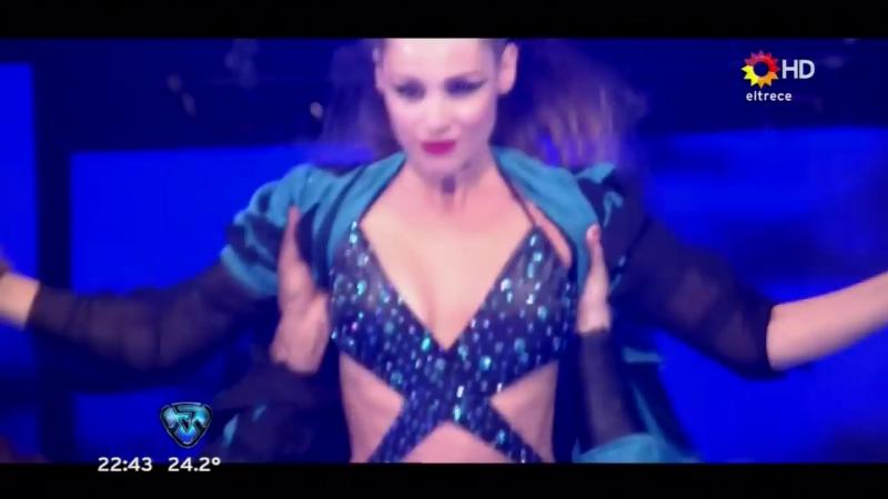El Aquadance de Pampita en el Bailando 2016